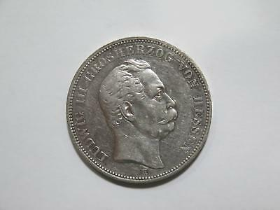 Germany Hessen 1875 H 5 Funf Mark Silver Crown Old World Coin Collection Lot