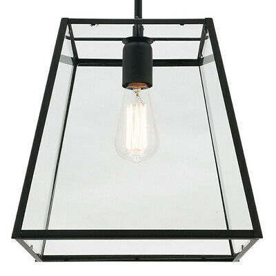 NEW Mercator Manchester Large 1 Light Clear Glass Pendant - MG6221L