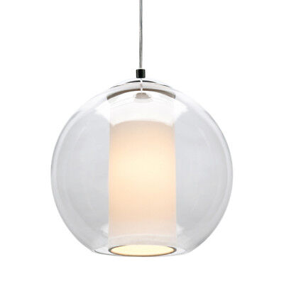 NEW Cougar Laurent Small Natural & Opal Glass Pendant Light - LAUR1PS