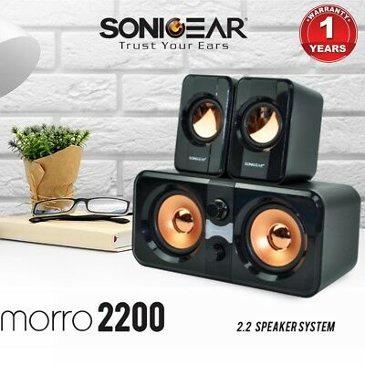 Computer Speakers SonicGear Morro 2200 USB Powered Subwoofer PC Speakers Black