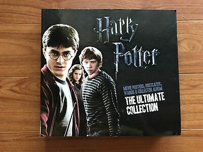 HARRY POTTER THE ULTIMATE COLLECTION Movie Posters, Postcards & Wands in Album