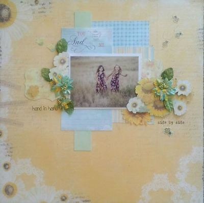 handmade premade scrapbook page layout 12 X 12 -  You and Me!