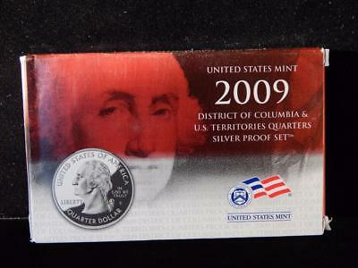 2009 State SILVER Quarters Proof Set with COA