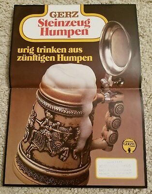 1970s Gerzit Beer Stein catalog brochure fold out