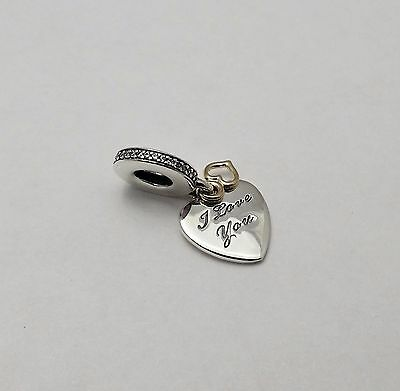 ce91604f3 #58 Authentic New Pandora 14K Love You Forever Dangle Clear CZ Charm  #792042CZ