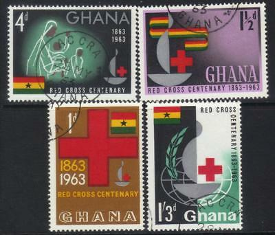 Ghana 1963 Cent Of Red Cross Used Set Of 4