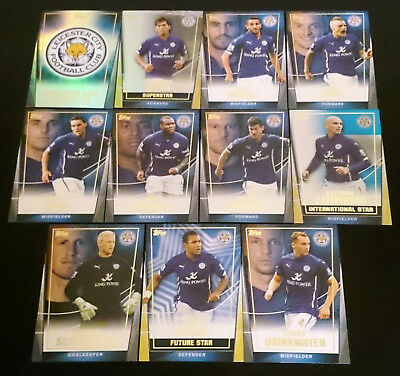 11 x Leicester City Topps Premier Club 2014/15 Soccer Cards inc INSERTS Team Set