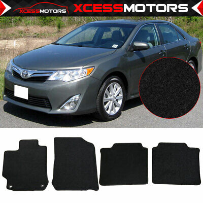 Fits 12-17 Toyota Camry Black Nylon Floor Front Rear Mats Carpets 4PC