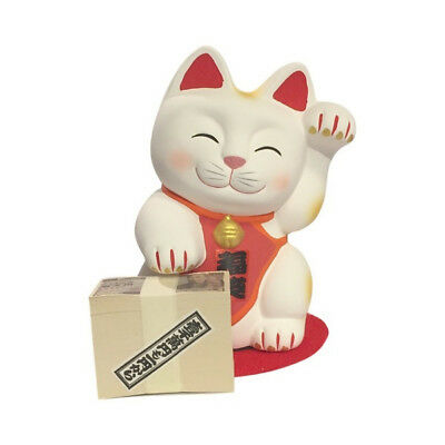 Tirelire chat japonais banquier 13cm ceramique Made in Japan Maneki Neko 40576