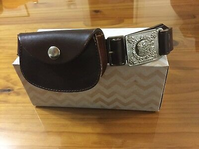 Collectable Girl Guides Belt ( Size 28 ) With Leather Pouch.