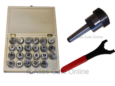 MT3 M12 Collet Chuck ER40  + ER40 Collet Set HK + Wrench  #333