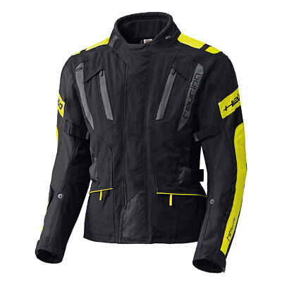 Held 4-Touring Black / Fluo Yellow Moto Motorcycle Waterproof Jacket | All Sizes