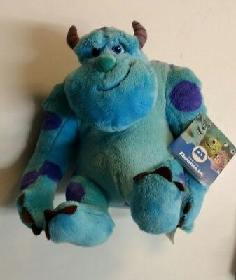 """Disney Sulley Monsters Inc Sully Soft  Plush Toy 10"""" Brand New with tags BNWT"""