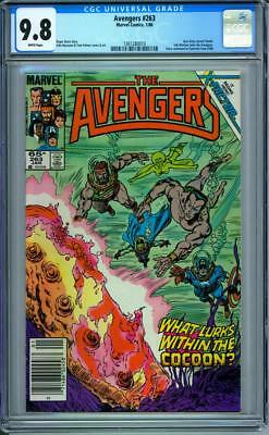 Avengers #263 CGC 9.8 White Pages The Return of Jean Grey Begins Newsstand