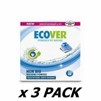 Ecover (Uk) Concentrated Non Bio Washing Powder 3Kg (3 Pack)