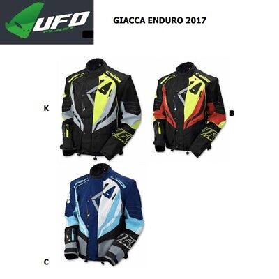 Giacca jacket UFO enduro OFF ROAD OFFROAD moto 2017 black nero GC04396K