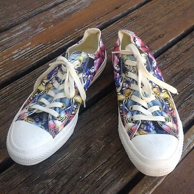 Converse All Star Floral Canvas Sneakers Womens Sz 8.5 EU 39.5 Photoprint Shoes