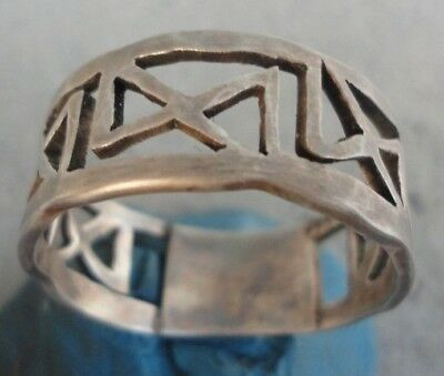 Ancient VIKING SILVER Ring Museum quality Lovely spectacular fine artifact RARE