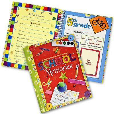 School Memory Book Album Keepsake Scrapbook Photo Kids Memories from Preschool +