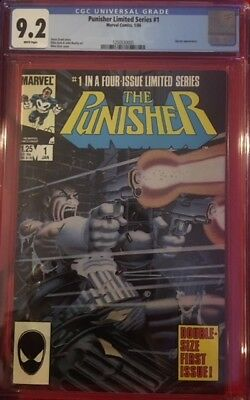 PUNISHER Limited Series #1 CGC 9.2 NM- Near Mint 1986 Michael Zeck Classic Cover