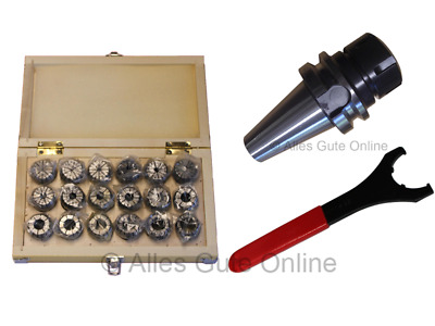 MAS/BT40 Collet Chuck ER32  + ER32 Collet Set HK + Wrench  #333