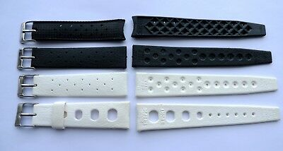 Vintage Swiss Tropic watch straps 1x 20mm 1x19mm and 2x 18mm Swiss Made lot of 4