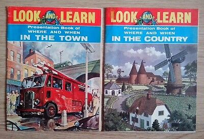 "Two Small Vintage ""look And Learn"" Magazines. September 1962."