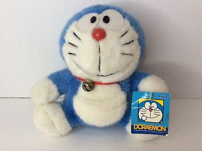 DORAEMON Plush Stuffed Toy Doll With Bell 7in Sanrio Japan Anime Mochi Authentic