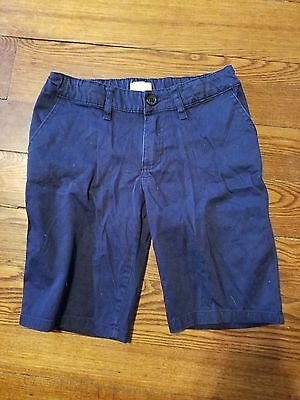 Girls Uniform dark blue shorts By The Children's place Size 10 EUC