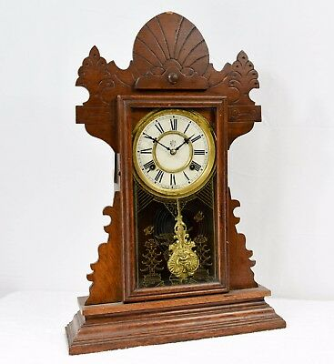 "Antique Waterbury Clock Company ""Gingerbread"" (Lloyds 3368) Clock"