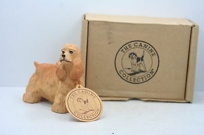 """The Canine Collection Figurine In Original Box - Resin - Cocker Spaniel 4"""" Resin"""