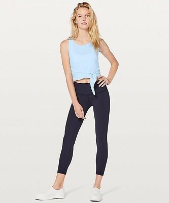 """NWT Lululemon Athletica """"It's A Tie Tank"""" Top Shirt in Breezy Blue Size 4 New"""