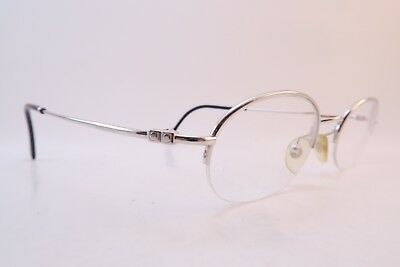 Vintage white gold filled eyeglasses frames Boucheron 70130 Size 48-20 France