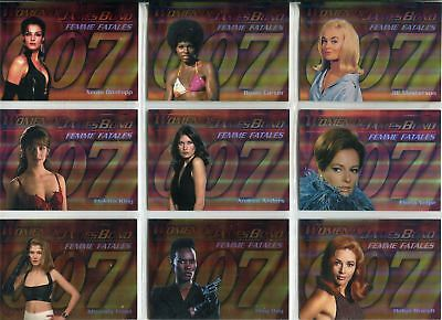James Bond Women In Motion Complete Femme Fatales Chase Card Set F1-9