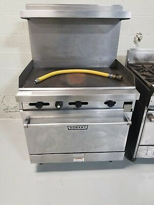 Hobart Commercial Gas Range Oven with Griddle