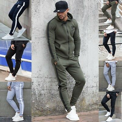 BBH Mens Gym Bottoms Slim Fit Joggers Casual Fleece Jogging Sweatpants