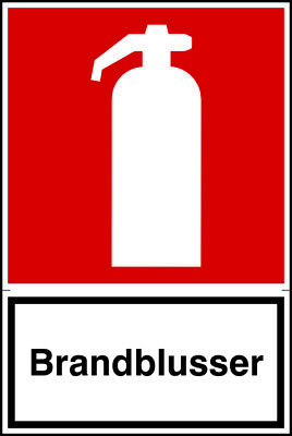 Brandblusser - Safety Notice Warning Caution Danger Sign