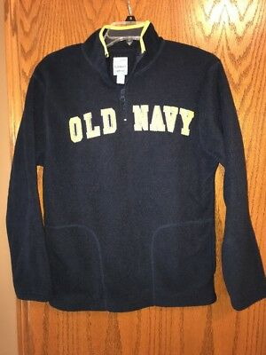 Old Navt Quarter Zip Fleece Boys Size XL 14-16