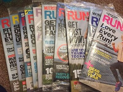Runners World Magazine Unopened Sealed April 2017 - January 2018 10 Issues