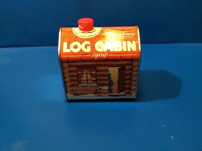 Vintage Log Cabin Syrup Tin (100th Anniversary) 1987