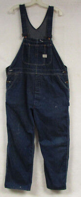 Vintage Denim Overalls Big Mac Square Bak Union Made Mens 40X29 Bibs Distressed