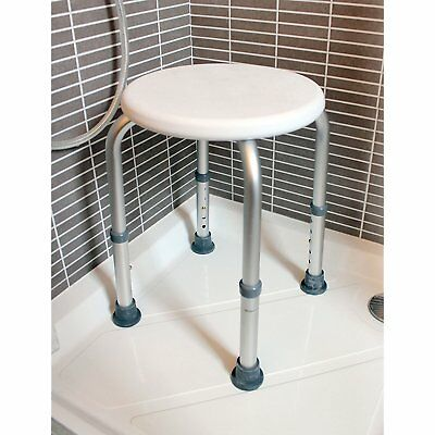 Bath Shower Safety Stool Seat Bathroom Wet Room With Anti Slip Rubber Ferrules.