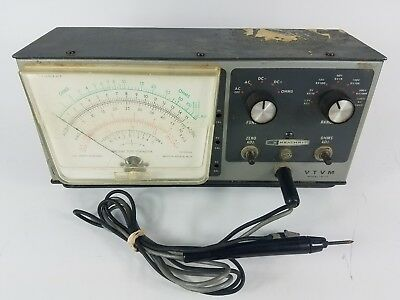 Heathkit VTVM IM-13 Vacuum Tube Voltmeter Powers On And Tested With 9v