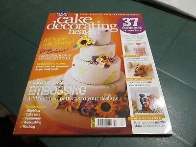 Cake Decorating Heaven Magazine Jan / Feb 2017  Techniques And Projects