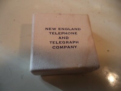 Vintage New England Bell Telephone Co. 10K Gold  5 Year Service Award Pin w/box