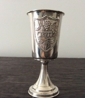 Antique Continental European 800 Silver Kiddish Cup / Sterling