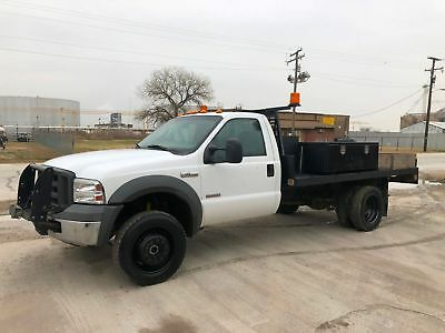Ford F450 Flatbed 4X4 Diesel Runs Great Aux Tank Dually Super Nice 2005 2006