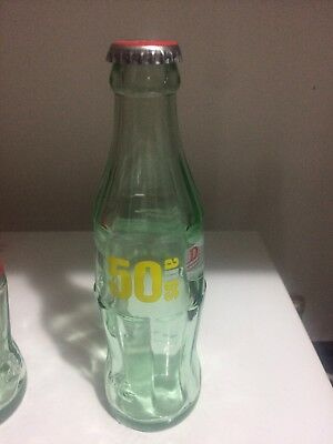 Coca Cola Bottle From Spain 50 Anos Cosbega HTF Empty With Cap