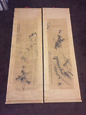 Set of Four Chinese Scroll Paintings