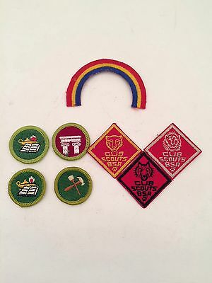 Vintage Boy Scouts of America BSA Cub Scouts Merit Badge Various Patch Lot Of 8